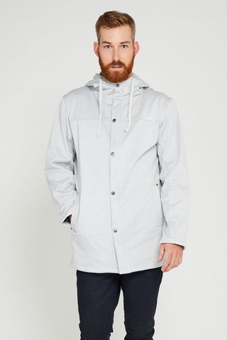 One Man Coast Waterproof Hoodie - Light Grey