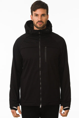 One Man Commuter Weatherproof Hoodie - Black Size XL only