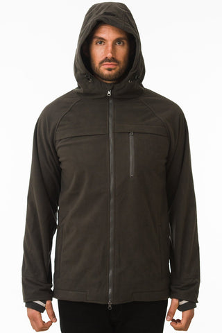 One Man Commuter Weatherproof Hoodie - Dark Grey