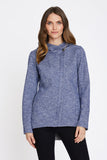 Tofino 2 Sweater Knit Weatherproof Hoodie - BLUE - Fleece lined