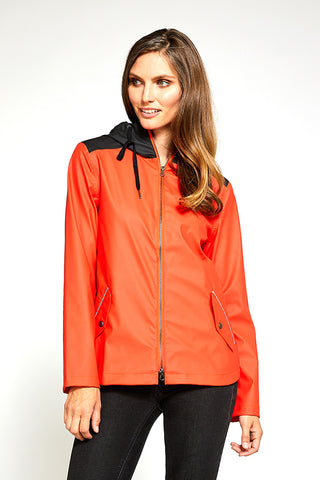 Piper Modern Light Weight Windproof Shell - Poppy/Black