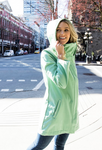 Stella Modern Rain Jacket Micro Fleece Interior - Mint