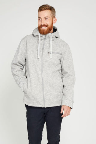 One Man Tacoma Waterproof Sweater Knit Hoodie - Grey