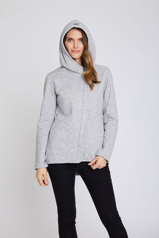 Tofino 2 Sweater Knit Weatherproof Hoodie - Stone - Fleece lined