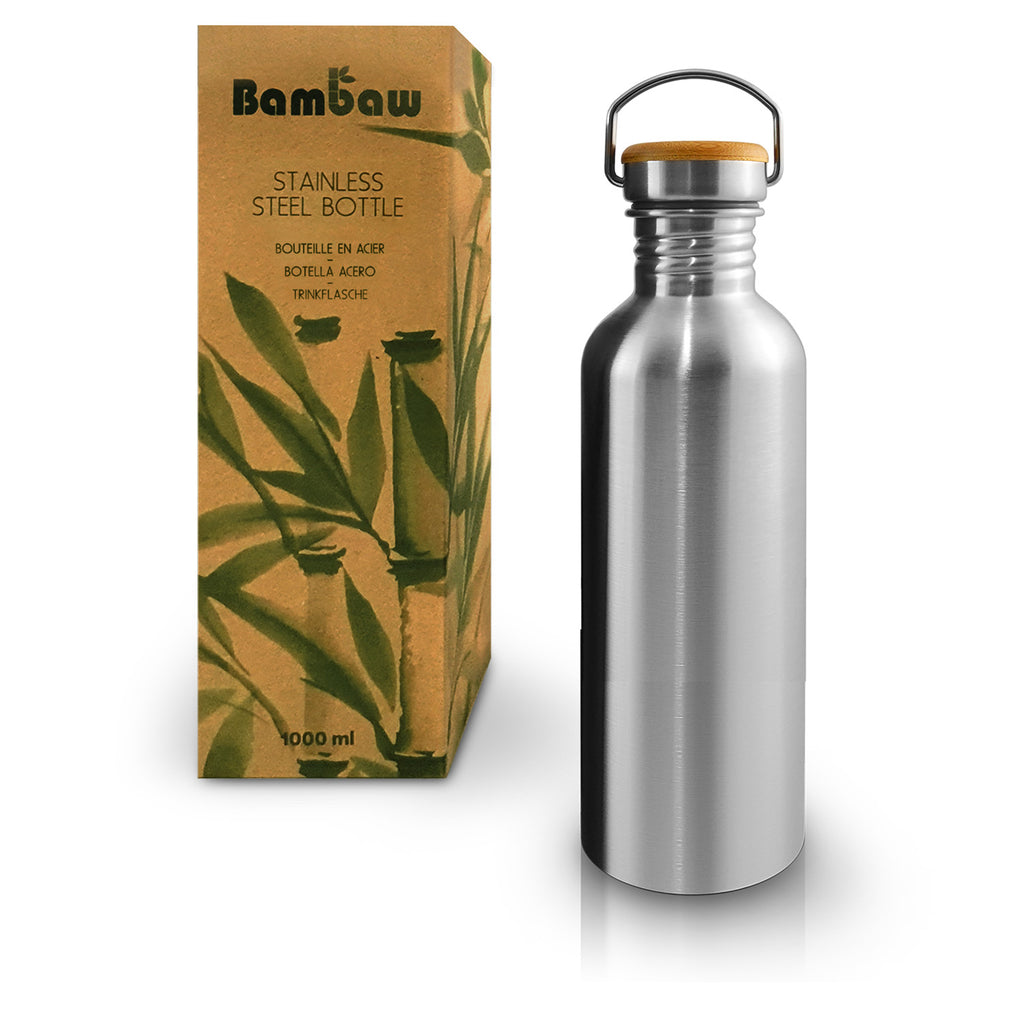 Bambaw Single Wall Stainless Steel Bottle 1000ml