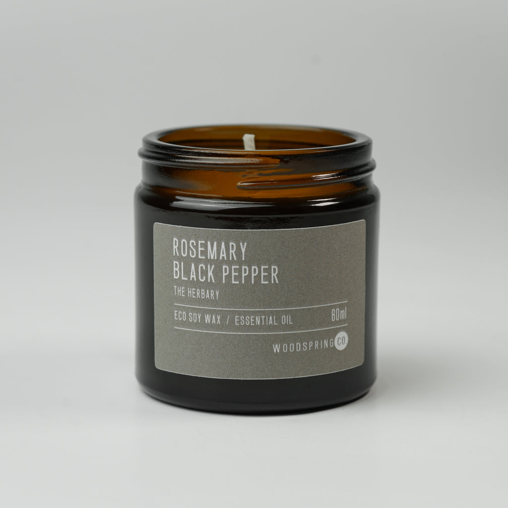 Woodspring Co Rosemary + Black Pepper Candle