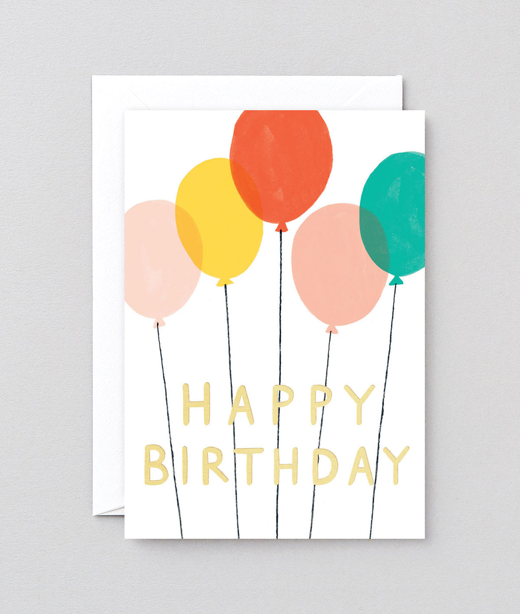Wrap CT Happy Birthday Balloons Card