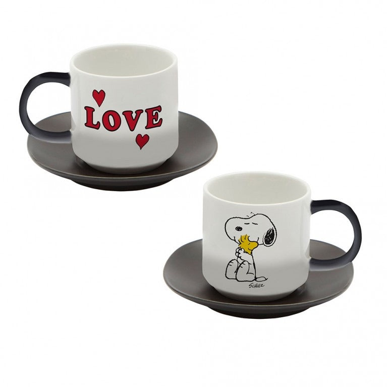 Magpie + Peanuts Snoopy Espresso Set of 2 - Love