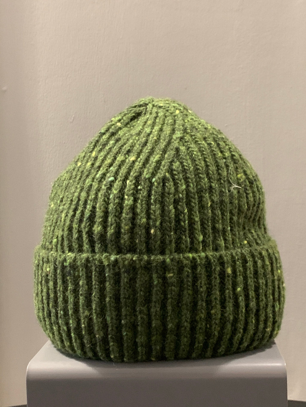 Donegal Wool Beanie Green