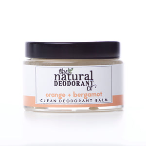 The Natural Deodorant Co Clean Deodorant Balm Orange & Bergamot