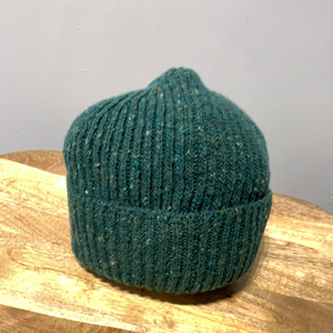 Donegal Wool Beanie Mid Green