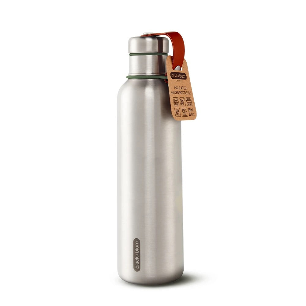 Black + Blum Insulated Water Bottle Olive 750ml