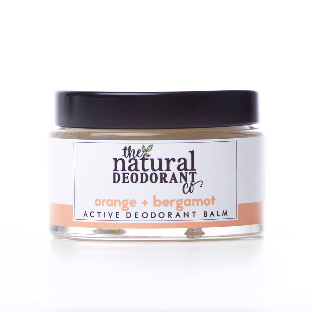 The Natural Deodorant Co Active Deodorant Balm Orange & Bergamot
