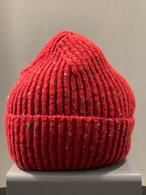 Donegal Wool Beanie Red