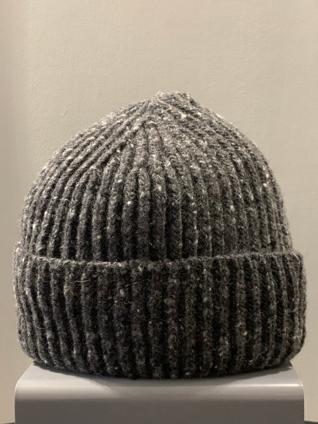 Donegal Wool Beanie Charcoal
