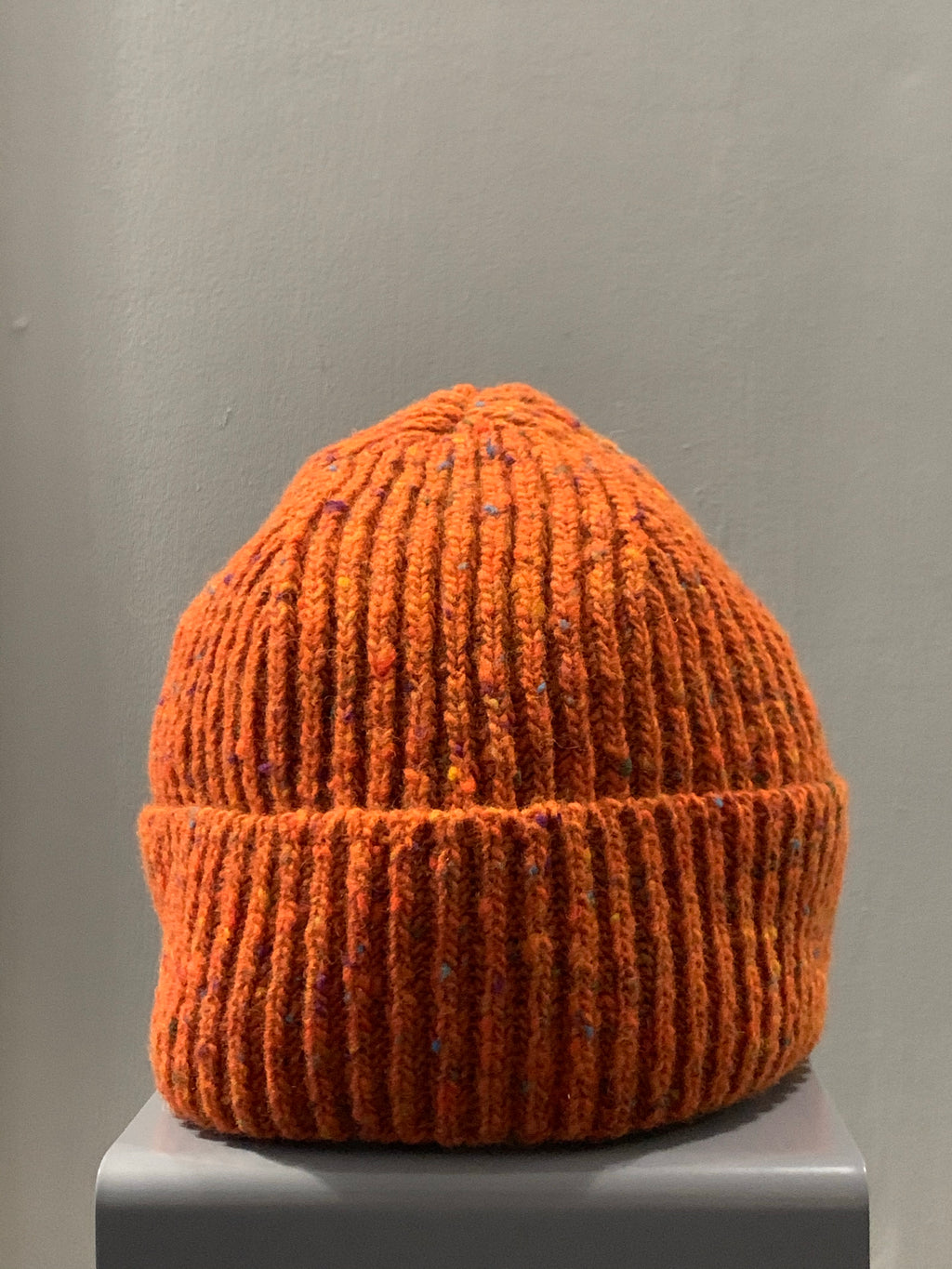 Donegal Wool Beanie Orange