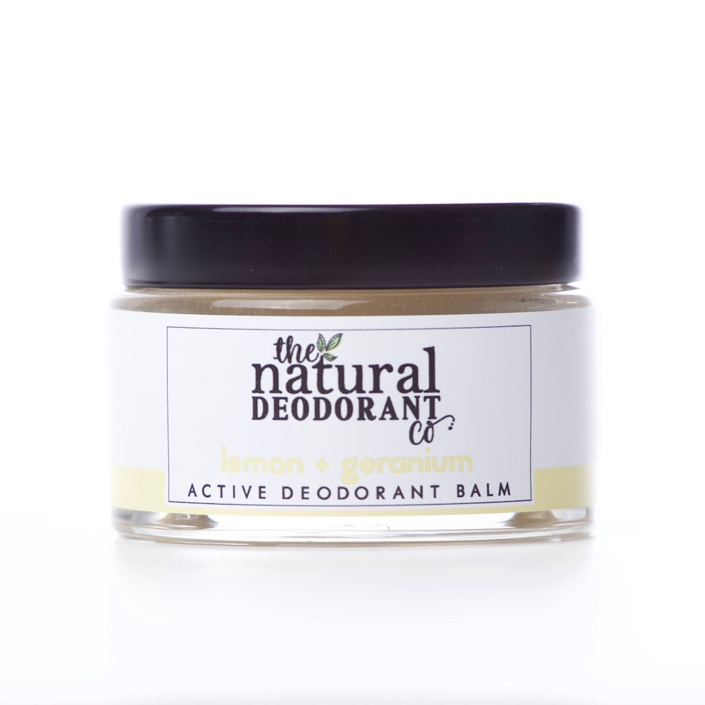 The Natural Deodorant Co Active Deodorant Balm Lemon & Geranium