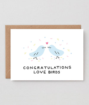 Wrap Congrats Lovebirds Card