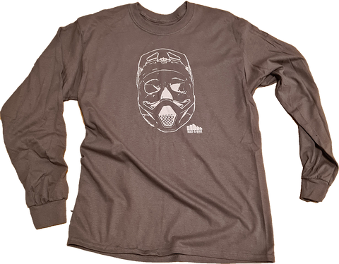 Skull Sender Long Sleeve Top Charcoal