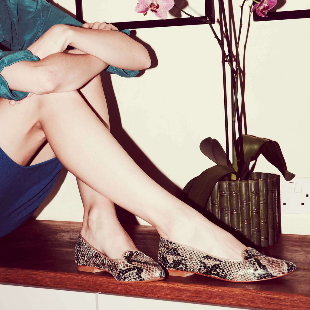 Edie Python Print Pumps - SOLD OUT