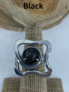 Open Square Curl Ring
