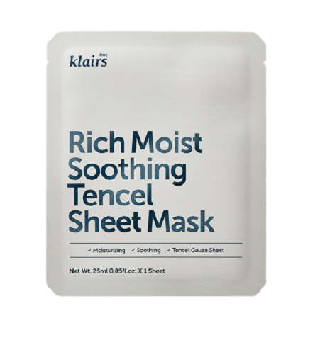 < NEW ARRIVAL > KLAIRS Rich Moist Soothing Tencel Sheet Mask - Set of 3
