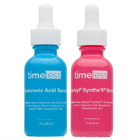 GLOW&FIRM TIMELESS DUO : Hyaluronic Acid Vitamin C + Matrixyl Synthe'6