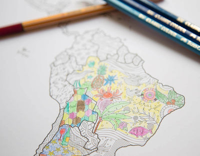 image of the design of the adult coloring map