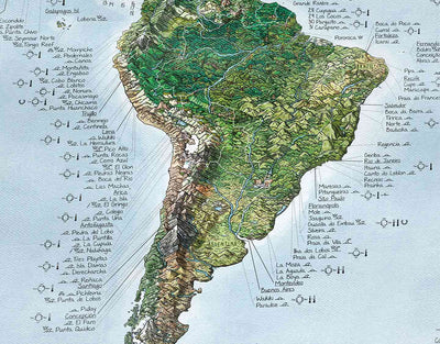 image of surfer world map with best surf spots in chile