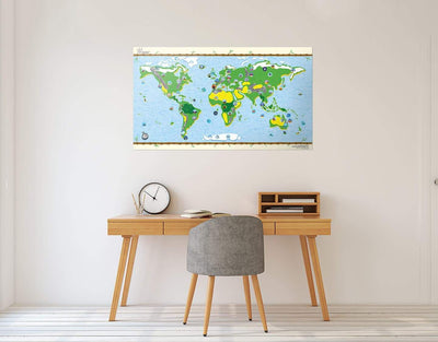 image of kids map wall art