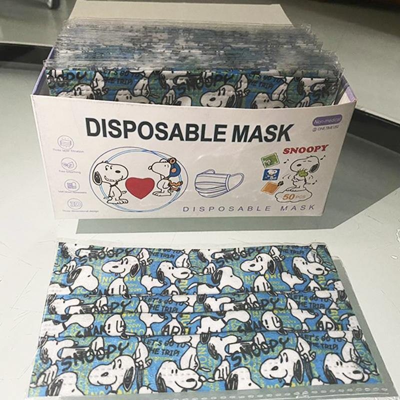 ESNOOPY™ DISPOSABLE MASK - 50PCS WITH BOX cloths Esnoopy Blue child