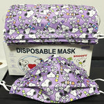 ESNOOPY™ DISPOSABLE MASK - 50PCS WITH BOX cloths Esnoopy Purple child
