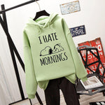 Esnoopy™ Hoodie - I Hate Mornings Esnoopy Green S