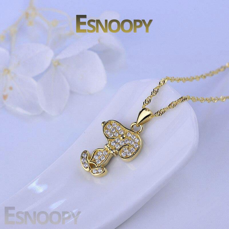 Esnoopy™ Necklace - FEEL THE LOVE Esnoopy gold