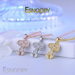 Esnoopy™ Necklace - FEEL THE LOVE Esnoopy silver