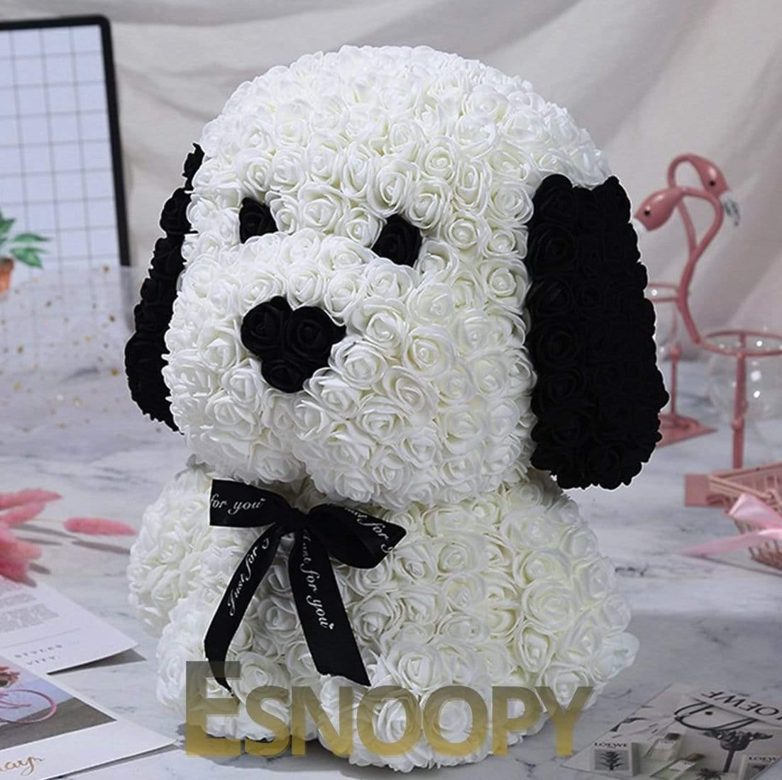 Esnoopy™ Teddy Rose 🌹 toy Esnoopy White 38cm