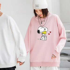 ME1 Crewneck Cotton Thin Sweatshirt Esnoopy