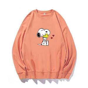 ME1 Crewneck Cotton Thin Sweatshirt Esnoopy orange XS