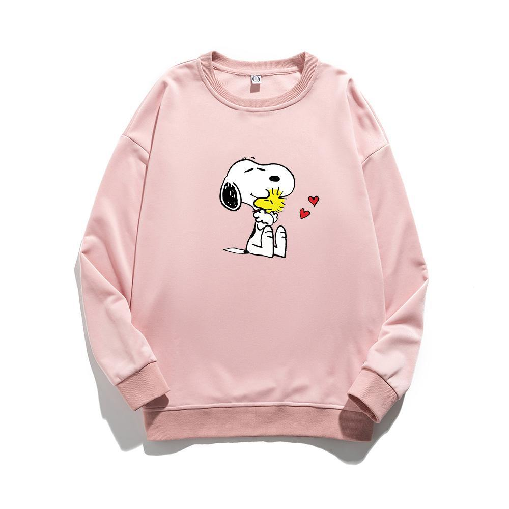 ME1 Crewneck Cotton Thin Sweatshirt Esnoopy pink XS