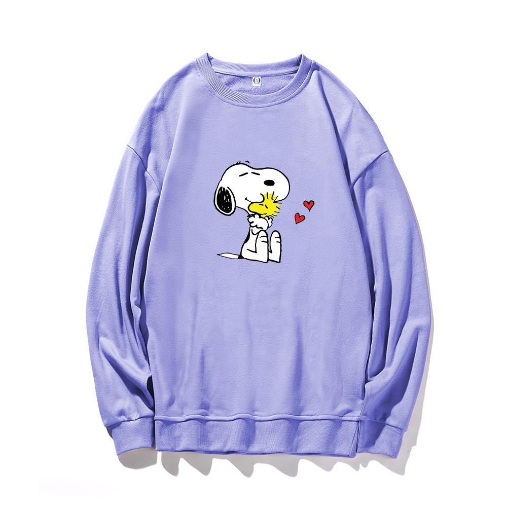 ME1 Crewneck Cotton Thin Sweatshirt Esnoopy purple XS