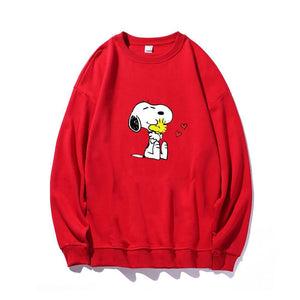 ME1 Crewneck Cotton Thin Sweatshirt Esnoopy red XS