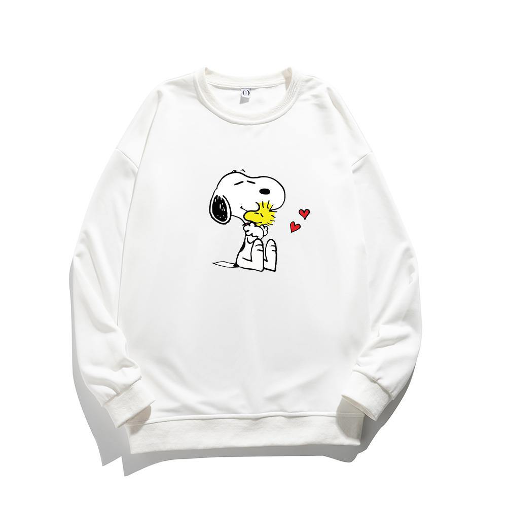 ME1 Crewneck Cotton Thin Sweatshirt Esnoopy white XS