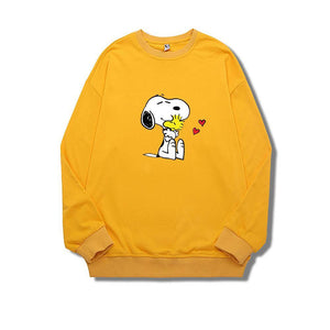 ME1 Crewneck Cotton Thin Sweatshirt Esnoopy yellow XS