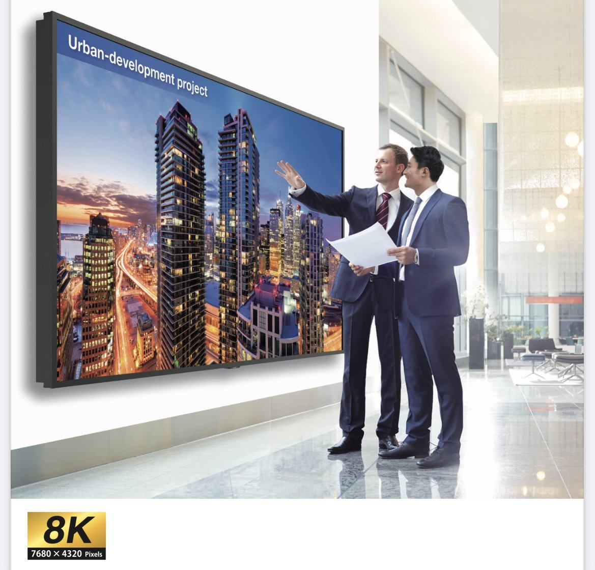 8K TVs and Large Format Displays