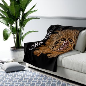 I Only Need Coffee Mandala Sherpa Fleece Blanket