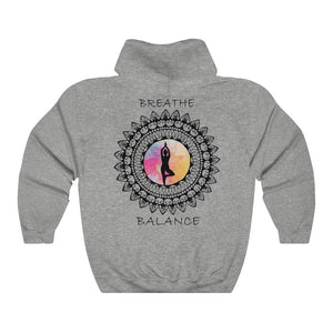 Breathe And Balance Mandala Unisex Hooded Sweatshirt