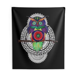 Psychedelic Owl Mandala Wall Tapestries