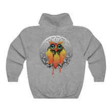 Load image into Gallery viewer, Owl Dream Catcher Mandala Unisex Hooded Sweatshirt