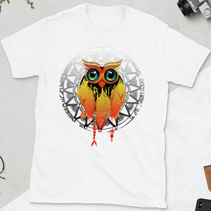 Owl Dream Catcher Mandala Unisex Cotton Tee