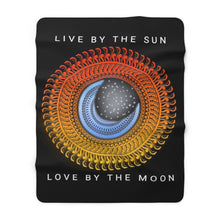 Load image into Gallery viewer, Live Love Sun & Moon Mandala Sherpa Fleece Blanket